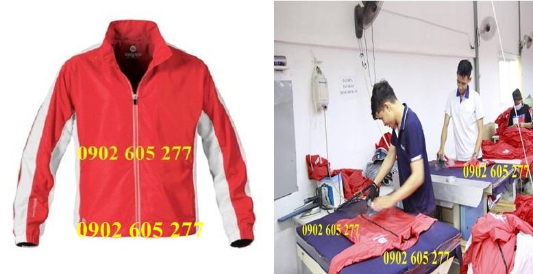 Xưởng sản xuất áo gió đồng phục cho nhân viên