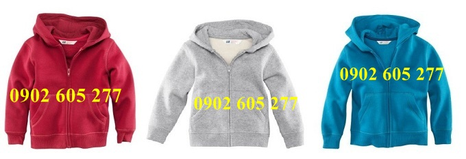Cở sở may áo khoác nỉ cho trẻ em làm quà tặng