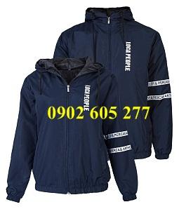May áo khoác gió đồng phục cho doanh nghiệp tại xưởng Tân bình