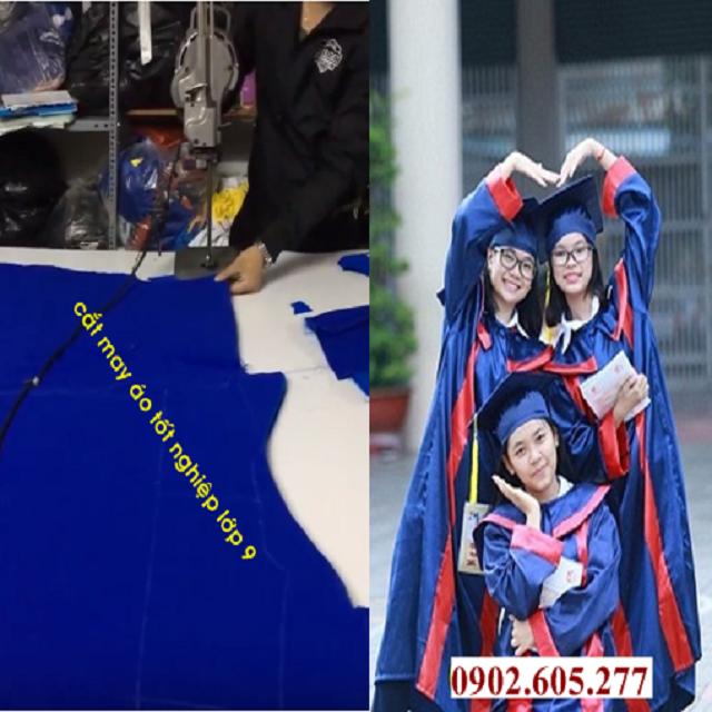 Đặt may sẵn áo tốt nghiệp cho học sinh cấp 2